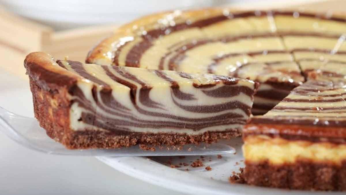 gâteau bicolore