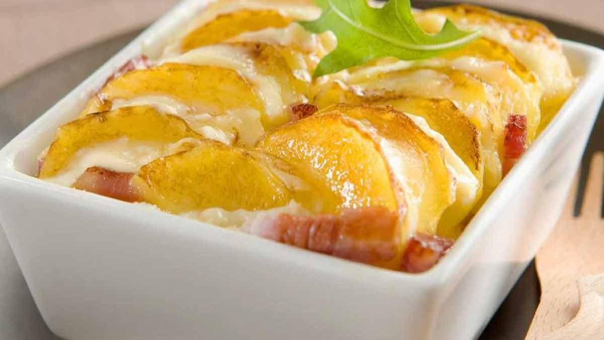 béchamel et pommes de terre