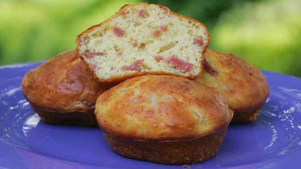Muffins gourmands au jambon et au fromage