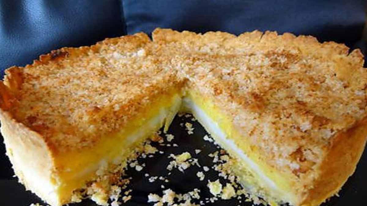 tarte citron-yaourt et crumble coco