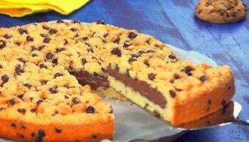cookie géant fourré au chocolat