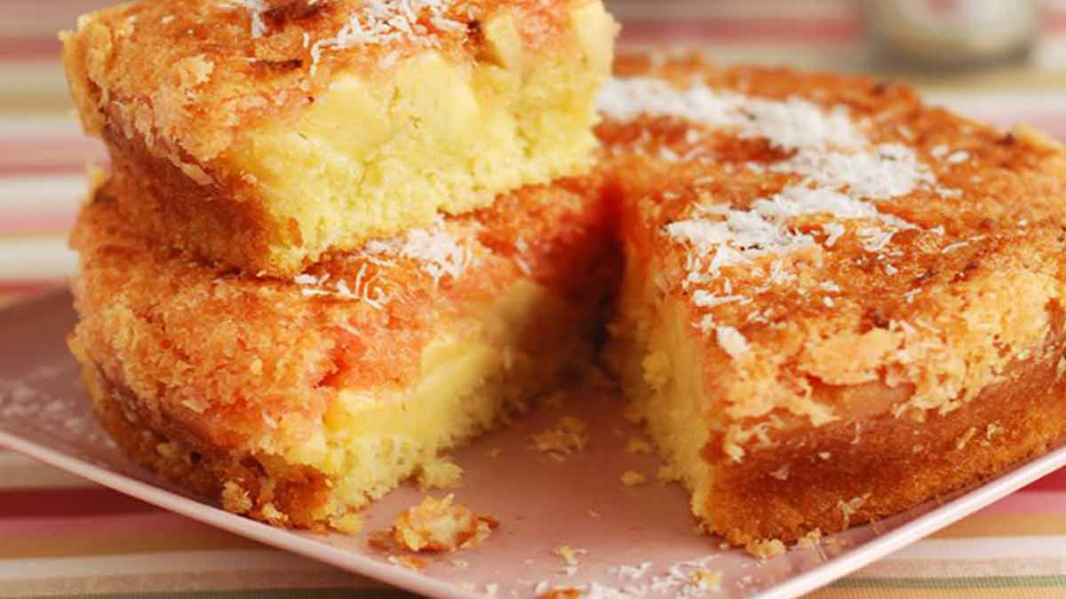 gâteau coco-pommes