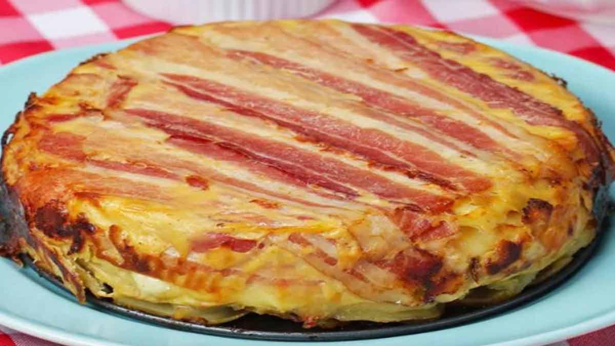 gâteau caché raclette-pommes de terre