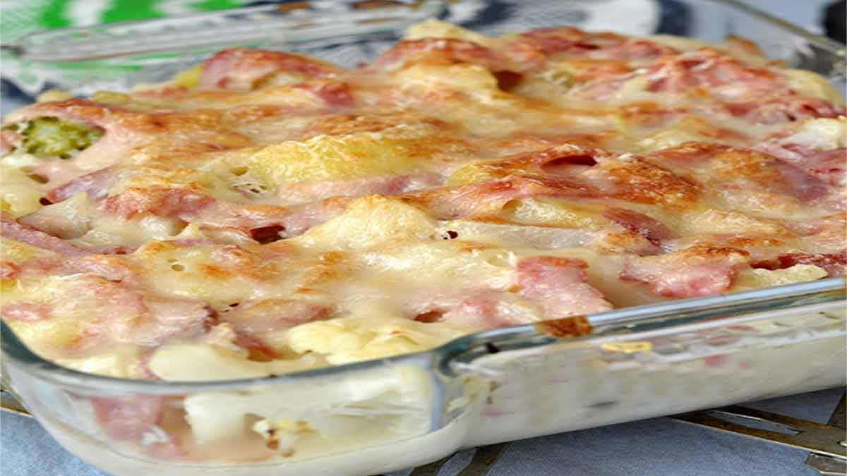 gratin de chou-fleur jambon-brie