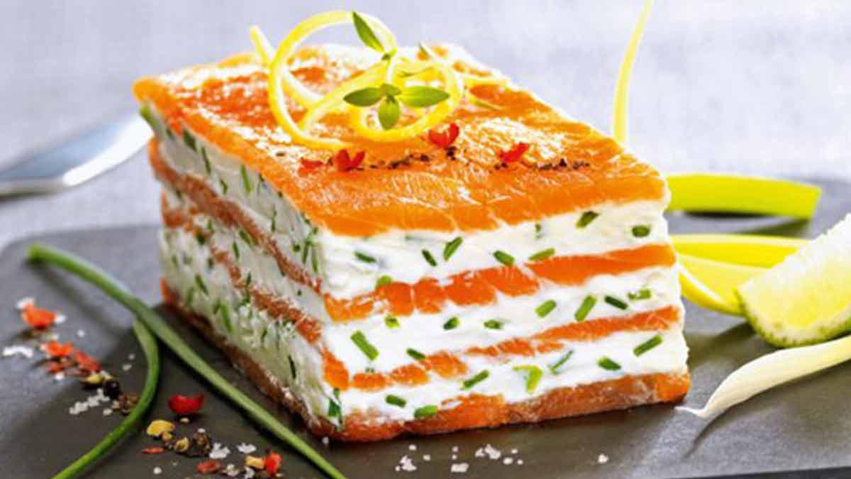 mille-feuilles de saumon et mascarpone