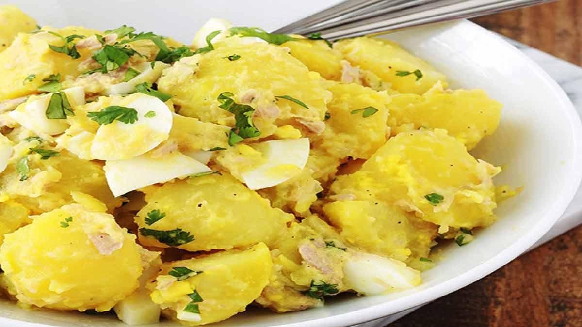 salade d'œufs durs et thon