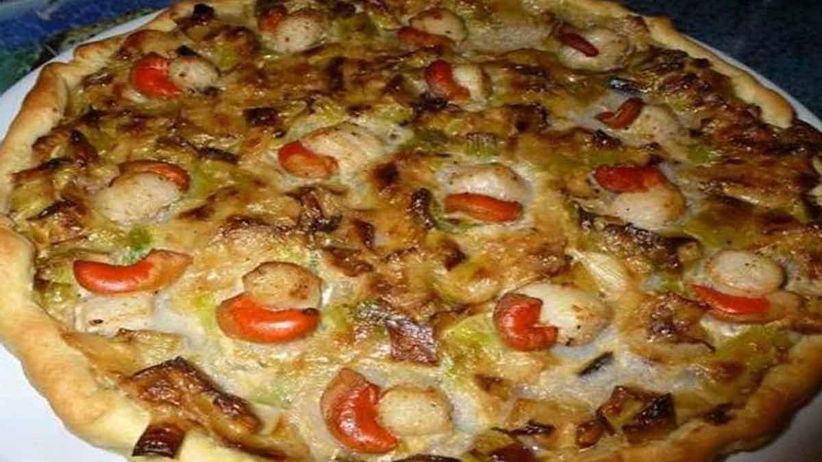 tarte champignons-noix de Saint-Jacques