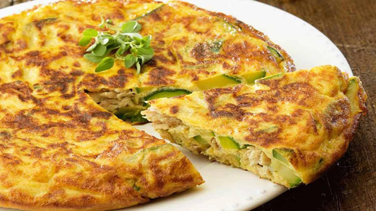 tortilla espagnole thon-courgettes