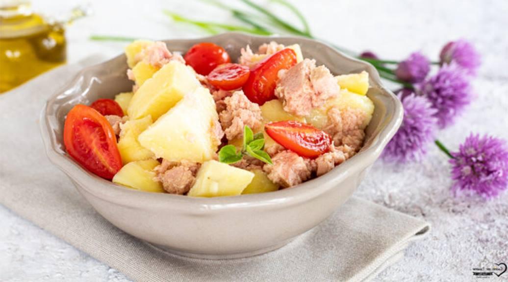 salade thon-pommes de terre et tomates