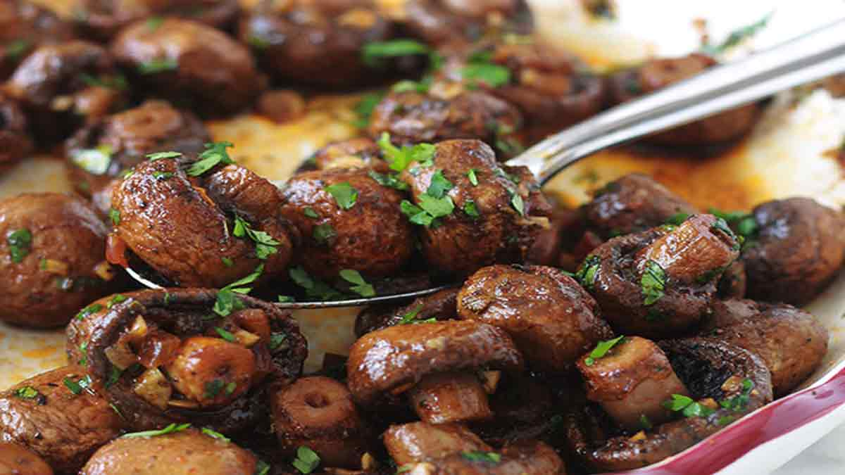 mini-champignons rôtis aux épices