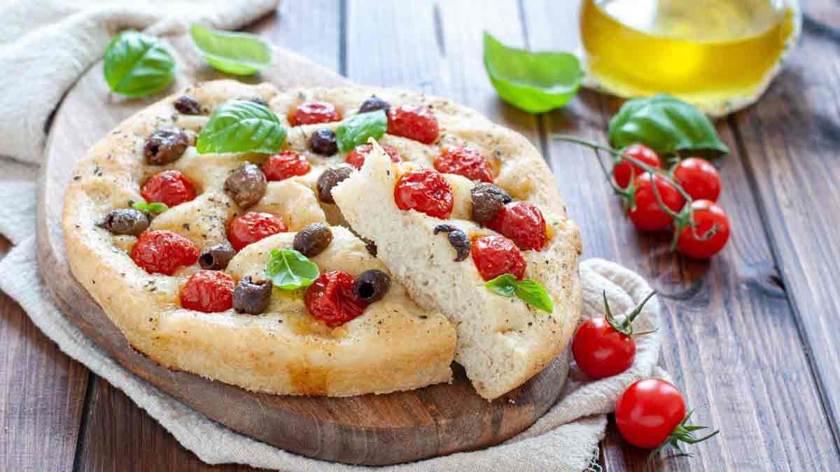 fougasse aux olives et tomates sans œuf