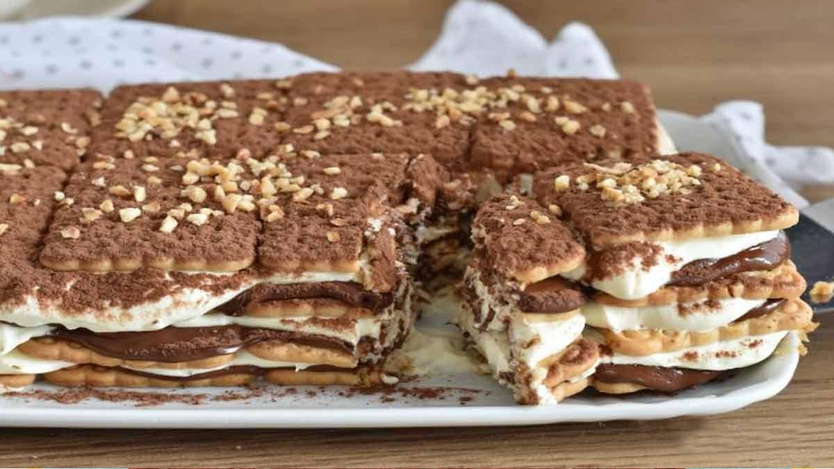 gâteau de biscuits au tiramisu et Nutella