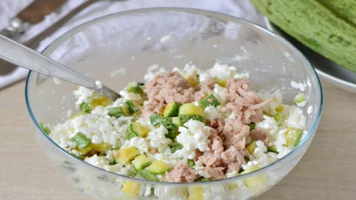 salade de riz-thon
