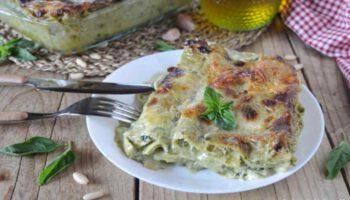 lasagnes au pesto mozzarella et parmesan