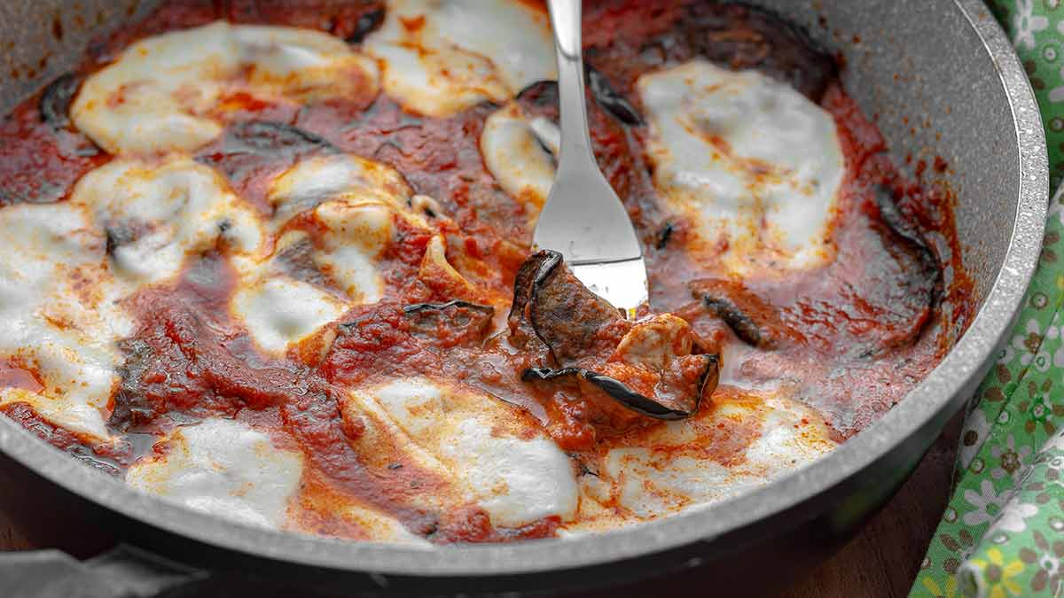 aubergines-mozzarella en pizza