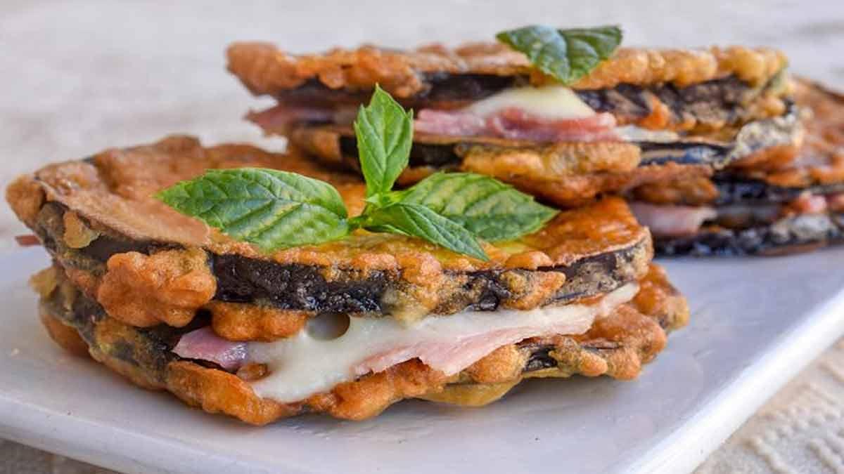 aubergines garnies au jambon-mozzarella