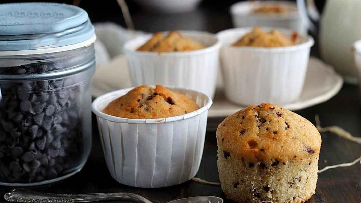 muffins au lait et pépites