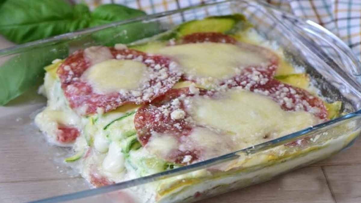 courgettes-salami au parmesan