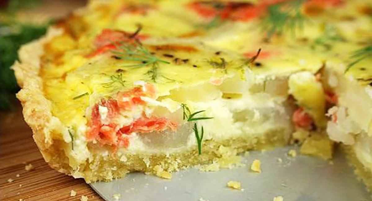 tarte saumon-pommes de terre
