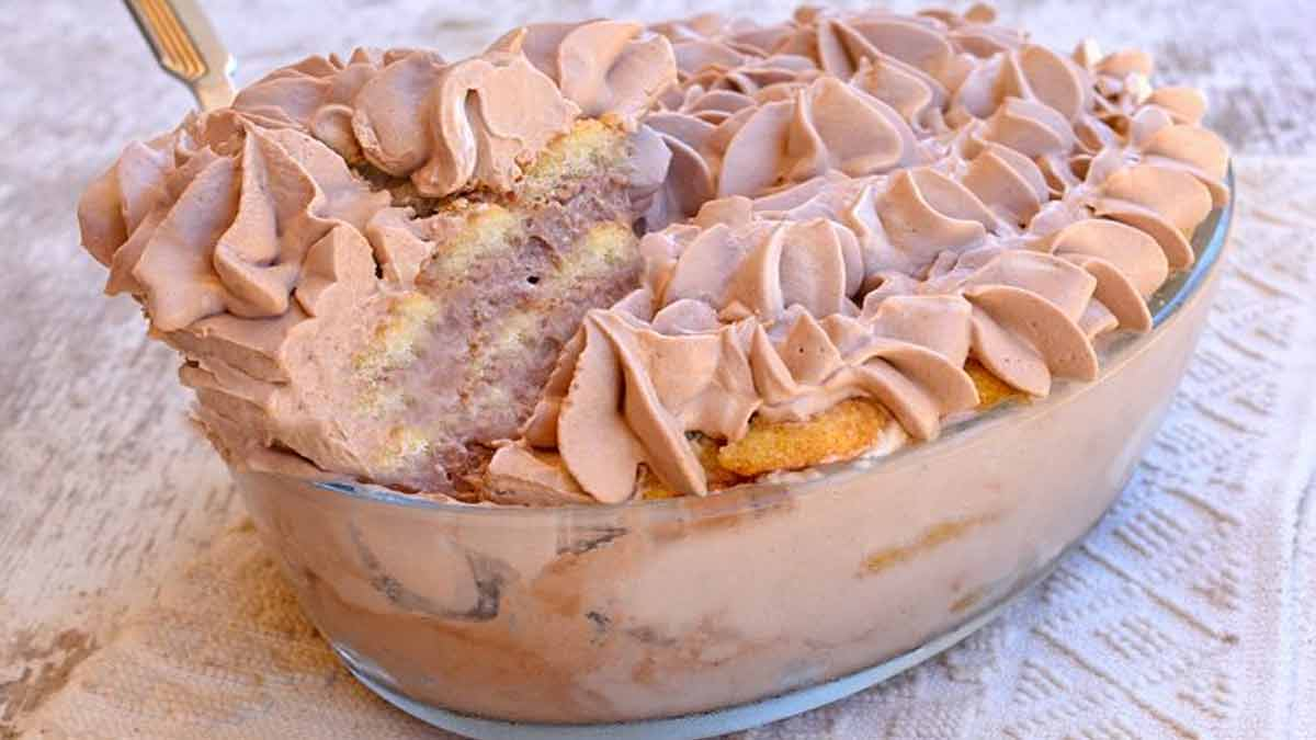 tiramisu yaourt-Nutella et biscuits