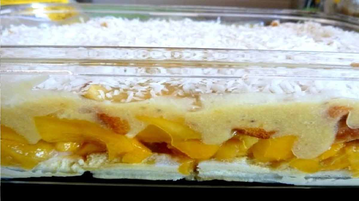 tiramisu mangue-coco au fruit