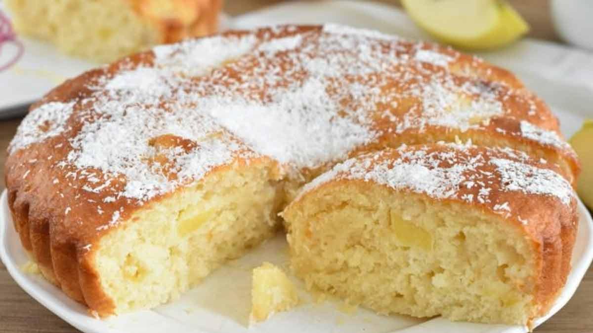gâteau coco-pommes et ricotta
