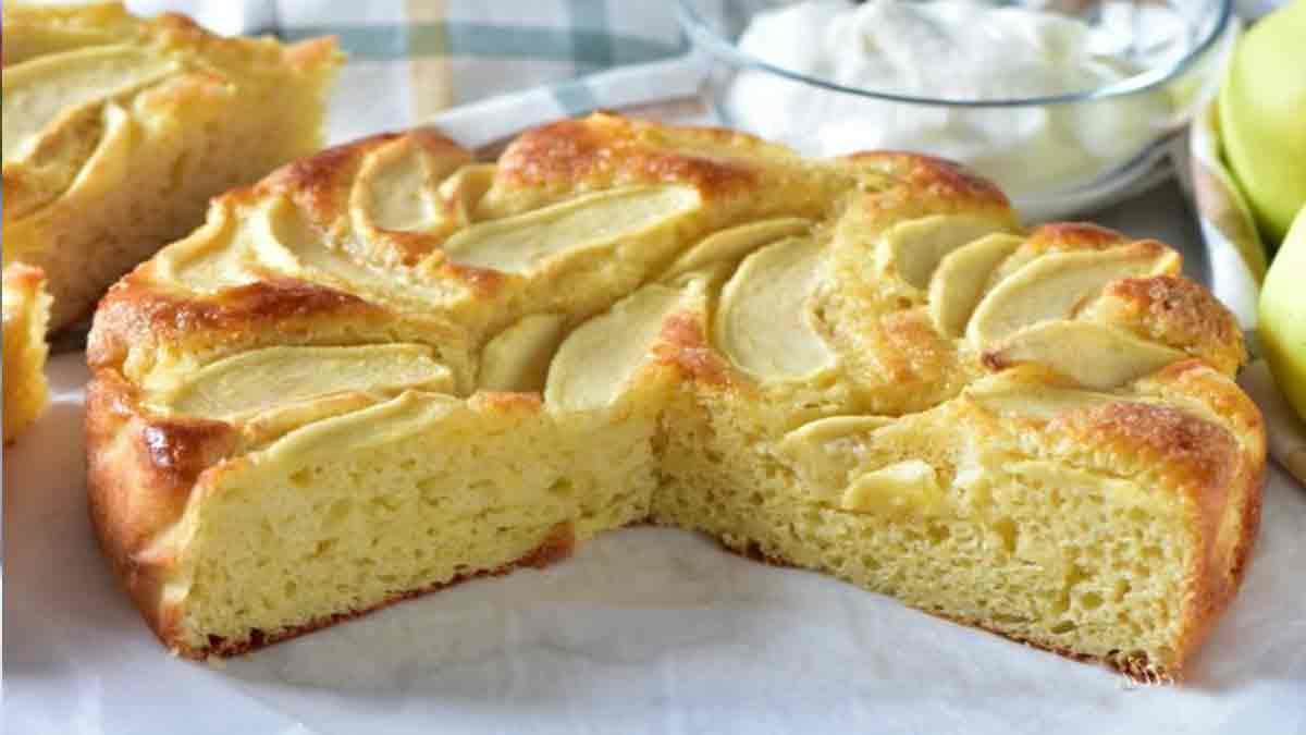 gâteau aux pommes-miel et yaourt