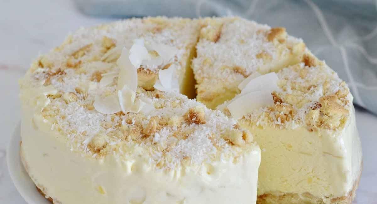 gâteau froid coco-amandes