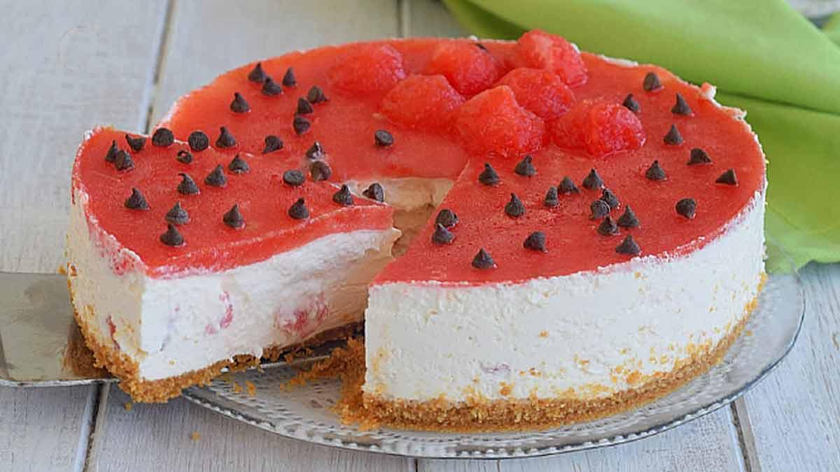 gâteau glacé pastèque-yaourt