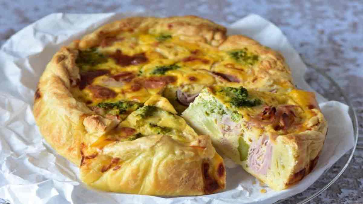 gâteau salé brocoli et jambon