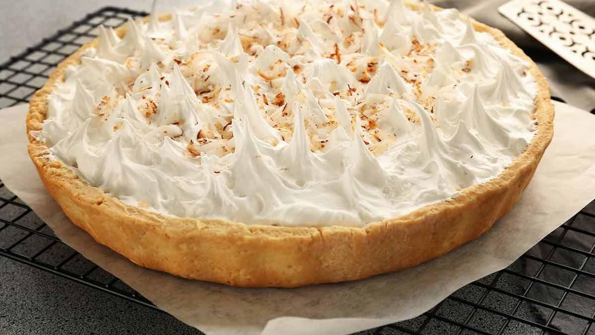 Alléchante tarte à la noix de coco sans beurre