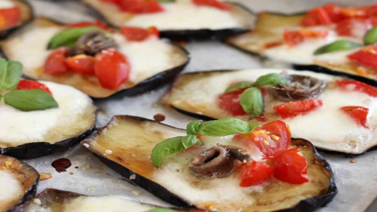 Appétissantes aubergines façon pizza