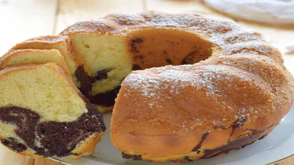 Délicieux gâteau marbré italien sans beurre