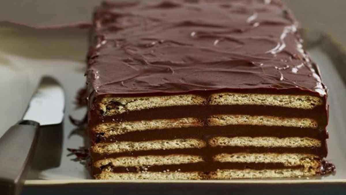 Gâteau au chocolat petit-beurre sans cuisson