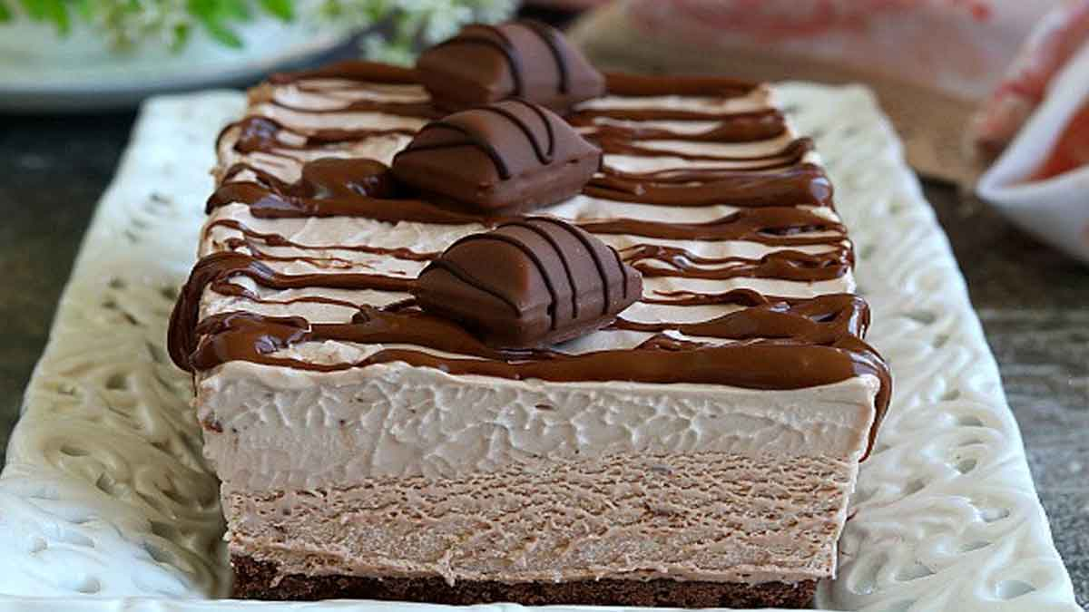 gâteau au mascarpone et Kinder Bueno