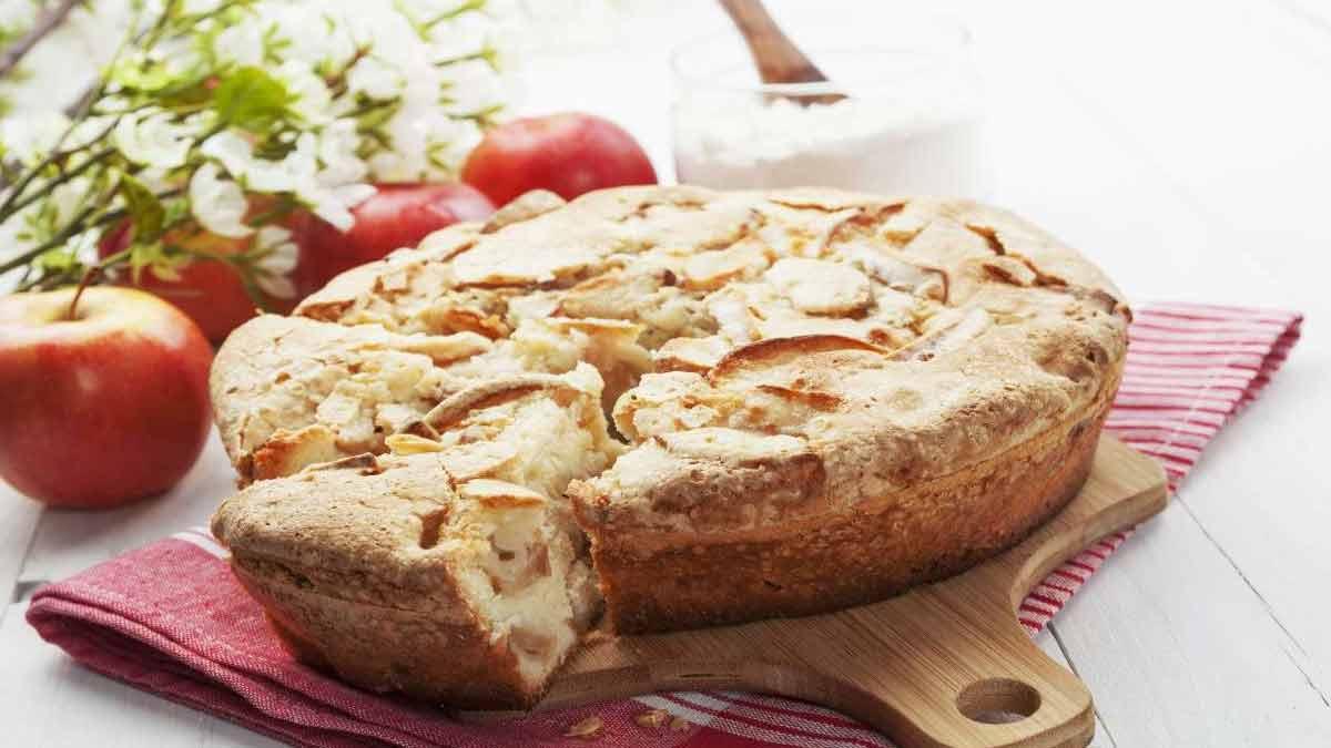 Légère tarte aux pommes sans œufs ni lait