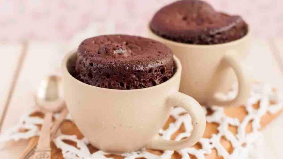 Mugcake au chocolat extra fondant