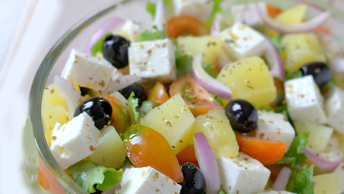 Revigorante salade de pommes de terre à la grecque