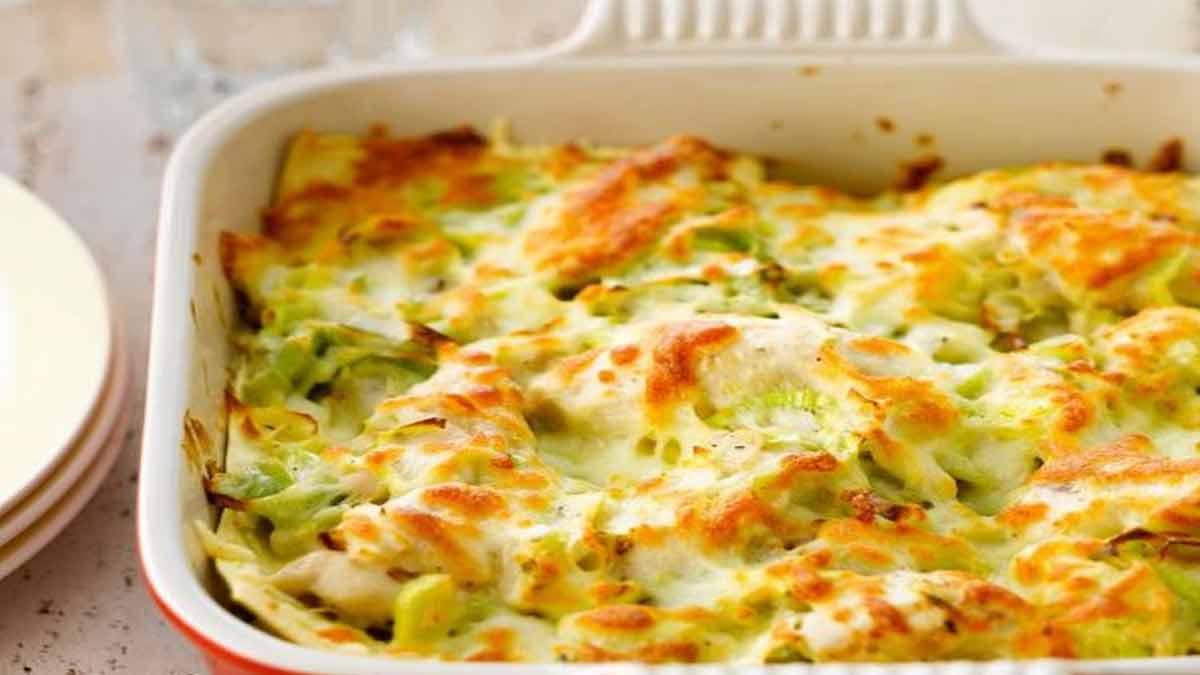 Succulentes lasagnes au poulet et aux poireaux