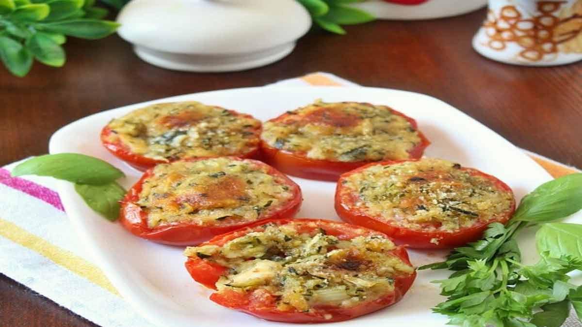 Tomates farcies aux courgettes et mozzarella