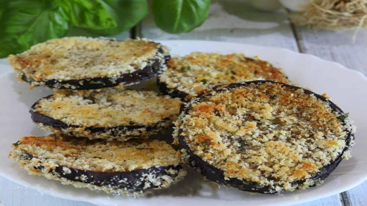 aubergines panées au parmesan au four