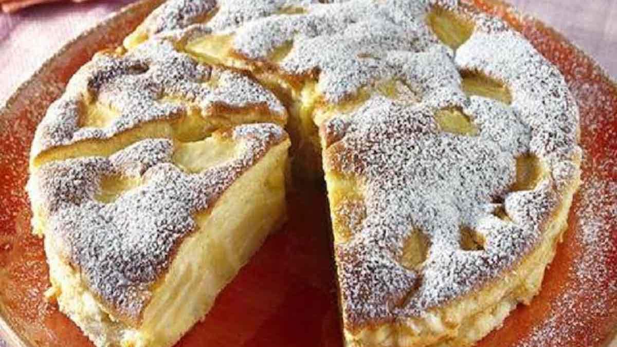 gâteau au flan et pommes