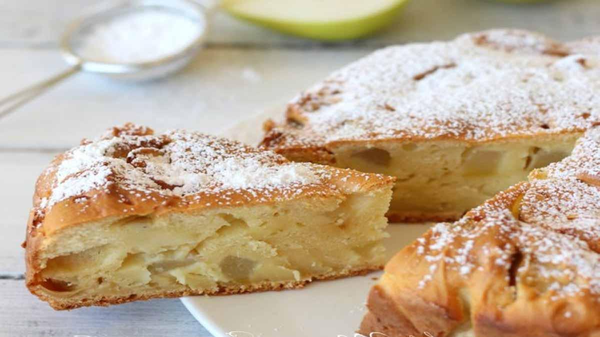 gâteau moelleux à la ricotta et poires