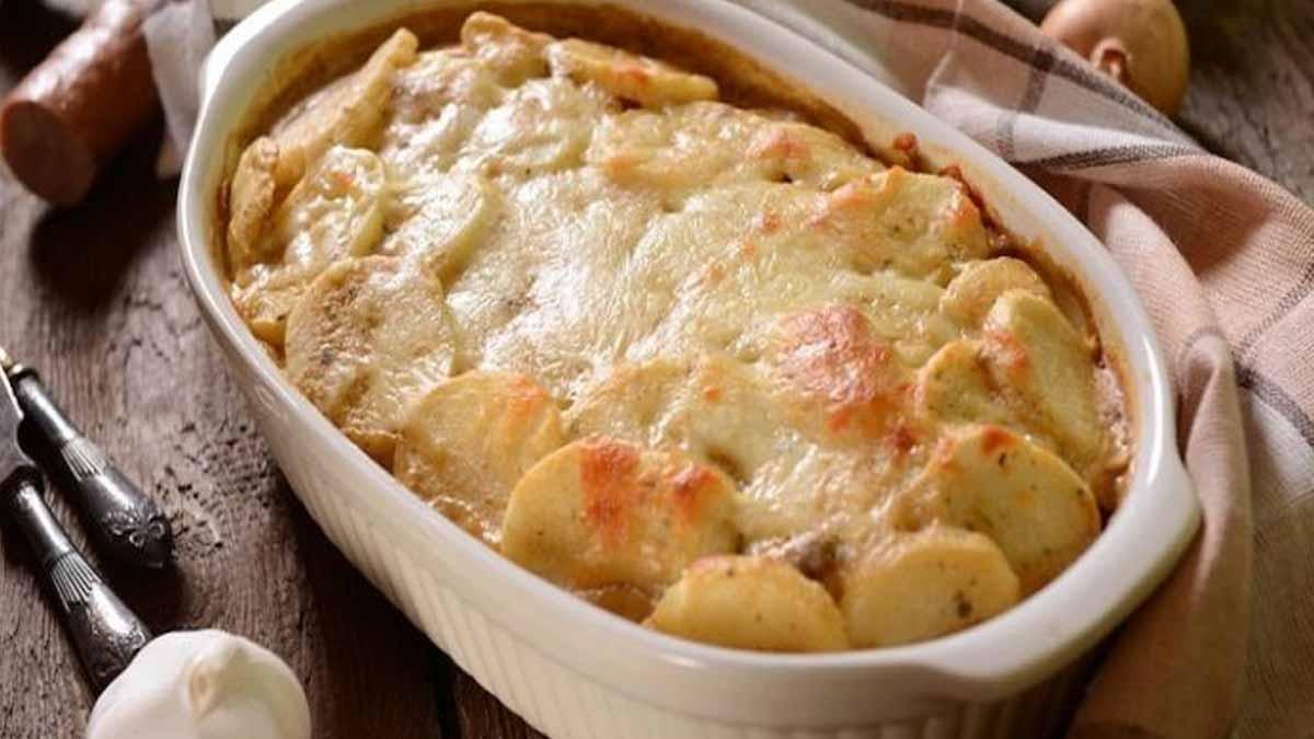 gratin de pommes de terre et saucisse de Morteau