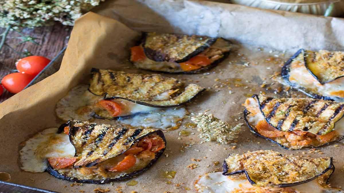 aubergines mozzarella-thon et tomates
