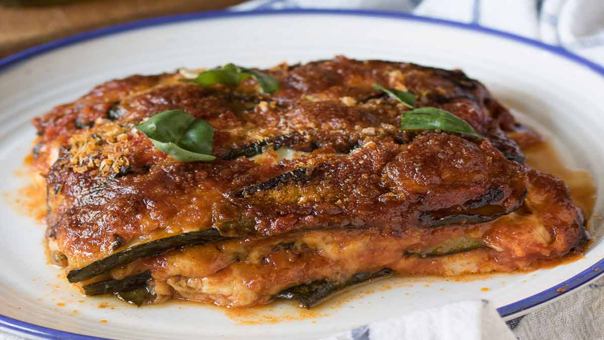 courgettes-mozzarella et sauce tomate