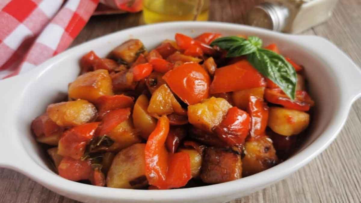 poivrons et pommes de terre à la sicilienne