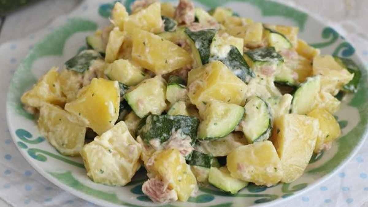 salade de pommes de terre et courgettes au thon