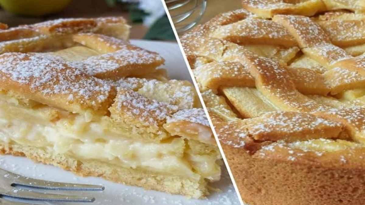 tarte à la crème aux pommes de granny