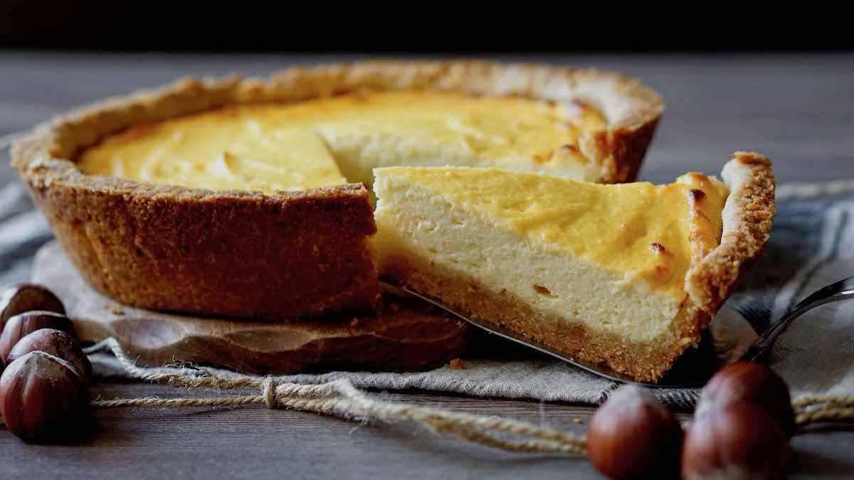 tarte au chocolat blanc et aux noisettes